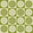 Seamless pattern in retro green colors — Stock Vector