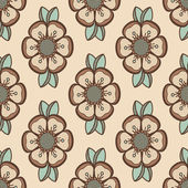 Mode mönster med blommor i ljus retro färg — Stockvektor