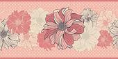 Hand-drawn flowers of dahlia — Stock Vector