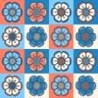Fashion pattern with abstract flowers — ベクター素材ストック