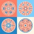 Set of four decorative round elements — Stock Vector #24126105