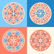 Set of four decorative round elements — Stock Vector #24126119