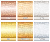 Set of luxury metallic backgrounds — Stock Vector