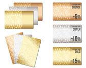 Zestaw luksus metalicznej tła — Wektor stockowy