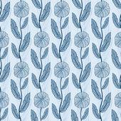 シームレスなベクターの花柄のパターン — ストックベクタ
