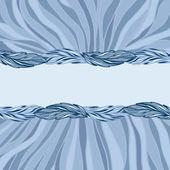 手描きの葉でグリーティング カード — ストックベクタ