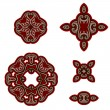 Set of design elements in oriental style. — Stock Vector