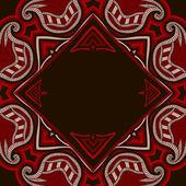 Kartkę z życzeniami z orientalny wzór — Wektor stockowy