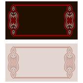 открытка с восточным узором — Cтоковый вектор