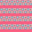 Seamless pattern in retro colors — Stock Vector