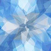 Abstraktní geometrické ledový květ — Stock vektor