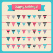 Set of bunting and garland — Stock Vector #30338617
