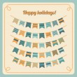 Set of bunting and garland — Stock Vector #30338571