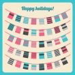 Set of bunting and garland — Stock Vector