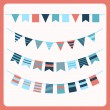 Set of bunting and garland — Stock Vector #30338669