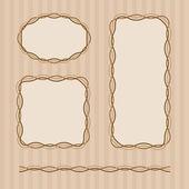Frame set in brown colors — Stock Vector