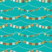 Padrão colorido com bandeiras e garland — Vetorial Stock