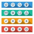 Flat UI design elements - set of basic web icons — Stock Vector