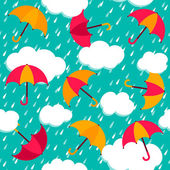 Seamless pattern with colorful umbrellas — Stock Vector