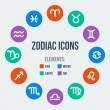 Zodiac signs — Stockvectorbeeld