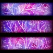 Set of three colorful banner — Imagen vectorial