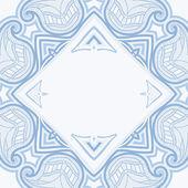 Carte de voeux avec motif oriental — Vecteur