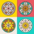 Set of four decorative round elements — Stock Vector #35633897