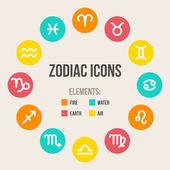 Signos do zodíaco — Vetor de Stock