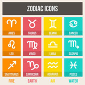 Zodiac signs — Stock Vector