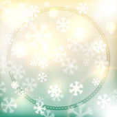 Christmas background, snowflakes and soft colors — Stock Vector