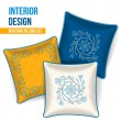 Stock Vector: Set of decorative pillow