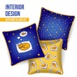Set of decorative pillow — Stock Vector #37331927