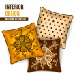 Set of decorative pillow — Stock Vector