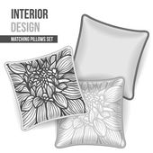 Set of decorative pillow — Stockvektor