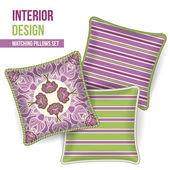 Set of decorative pillow — Stockvektor