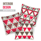 Set of decorative pillow — ストックベクタ