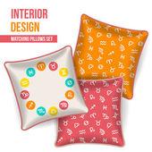 Set of decorative pillow — Stock vektor