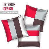 Set of decorative pillow — Stock Vector