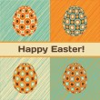 Vector de stock : Easter card with eggs and banner.