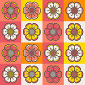 Abstract floral seamless pattern — Stock Vector