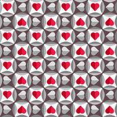 Seamless pattern with hearts — Stockvektor