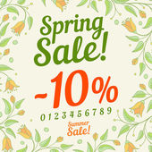 Spring sale design — Stock Vector