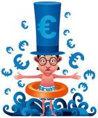 Euro crisis — Stock Vector