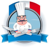 French Chef — Stock Vector