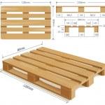 Wooden Pallet — Stock Vector