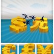 Stock Vector: Migrating investments