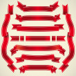Royalty-Free Stock Immagine Vettoriale: Set of red ribbons