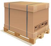 Container kartong — Stockvektor