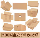 Moving boxes — Stock Vector
