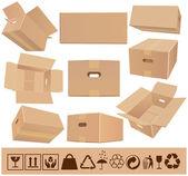 Stěhovací krabice — Stock vektor